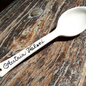 Cucchiaio in ceramica per aceto balsamico