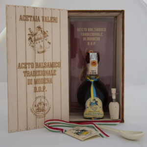 Traditional balsamic vinegar of Modena Aged wood packaging