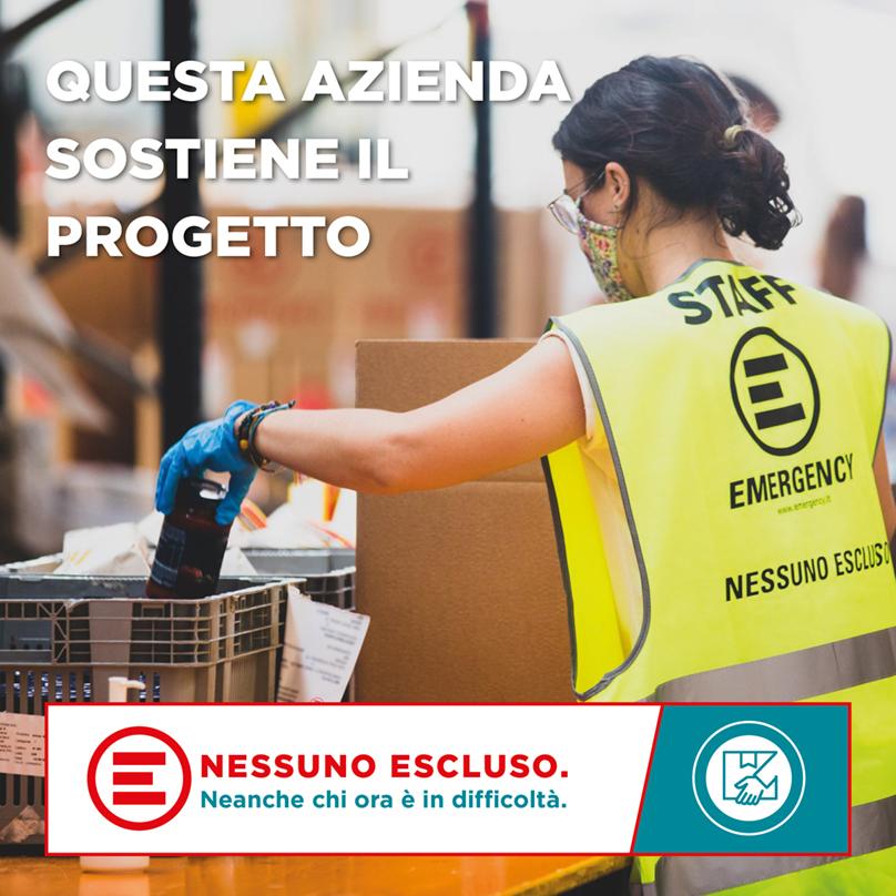 Acetaia Valeri sostiene Emergency, progetto Nessuno Escluso