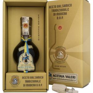 Vinagre balsámico tradicional de la fábrica de vinagre de Módena de Valeri Extravecchio lazo