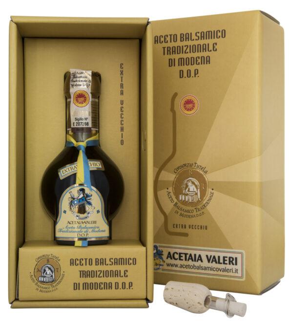 Aceto Balsamico tradizionale di Modena DOP Acetaia Valeri Extravecchio cravatta