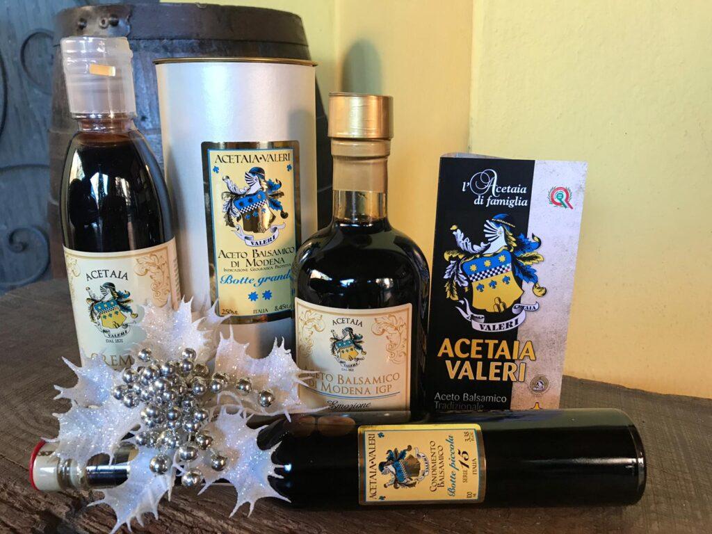 Vinaigre balsamique de boîtes cadeaux de Noël de Modène, Acetaia Valeri