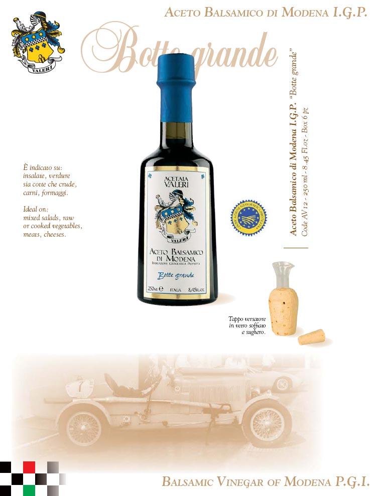 Aceto Balsamico Modena IGP Botte Grande - Capsula Blu