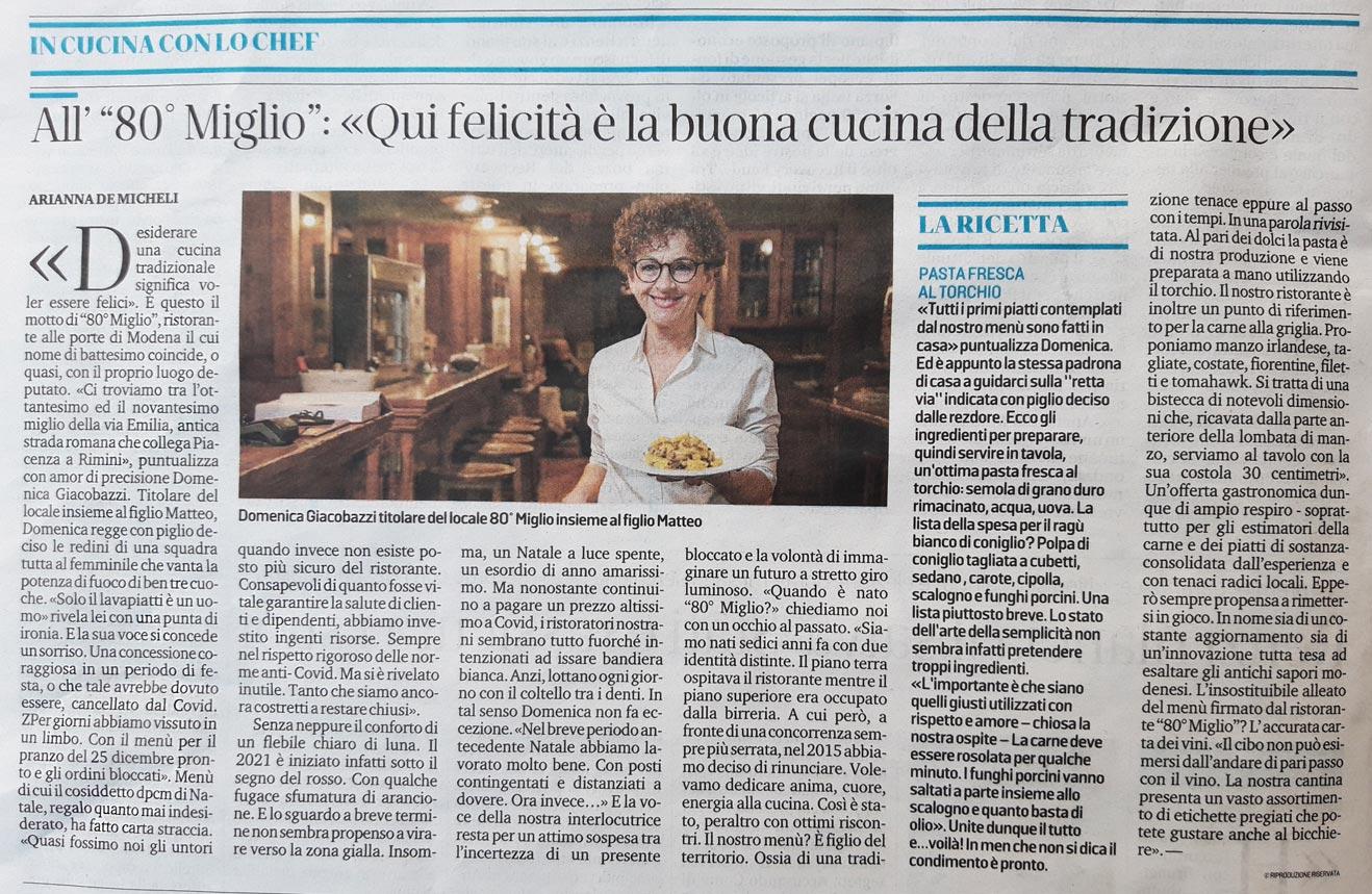 Typisches Modena Restaurant 80° Meile
