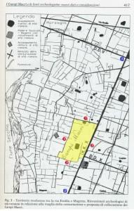 Mapa histórico de Campi Macri, Magreta (MO)