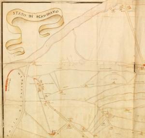Storica Cartina del territorio di Formigine del 1631