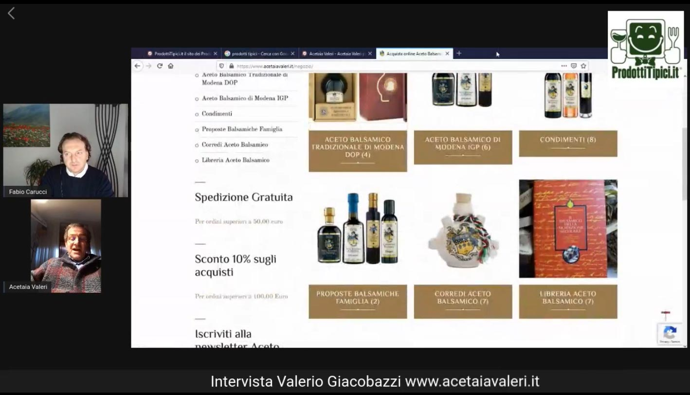 Balsamico Valeri auf typische Produkte