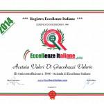 "Certificado de ""Excelencia italiana"""