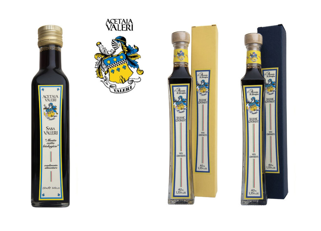 Condiments Acetaia Valeri, Condiment saba et balsamique