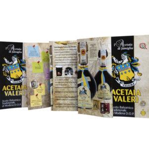 Pieghevoli Aceto Balsamico Acetaia Valeri
