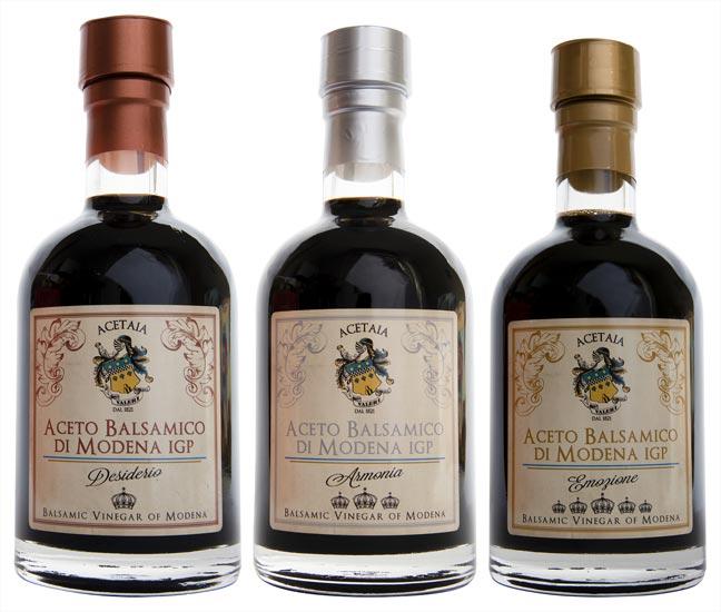 Fábrica de vinagre de Módena balsámico Tris V