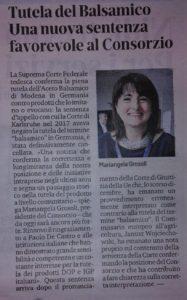 La Commissione Europea conferma la tutela dell'Aceto Balsamico di Modena contro le evocazioni